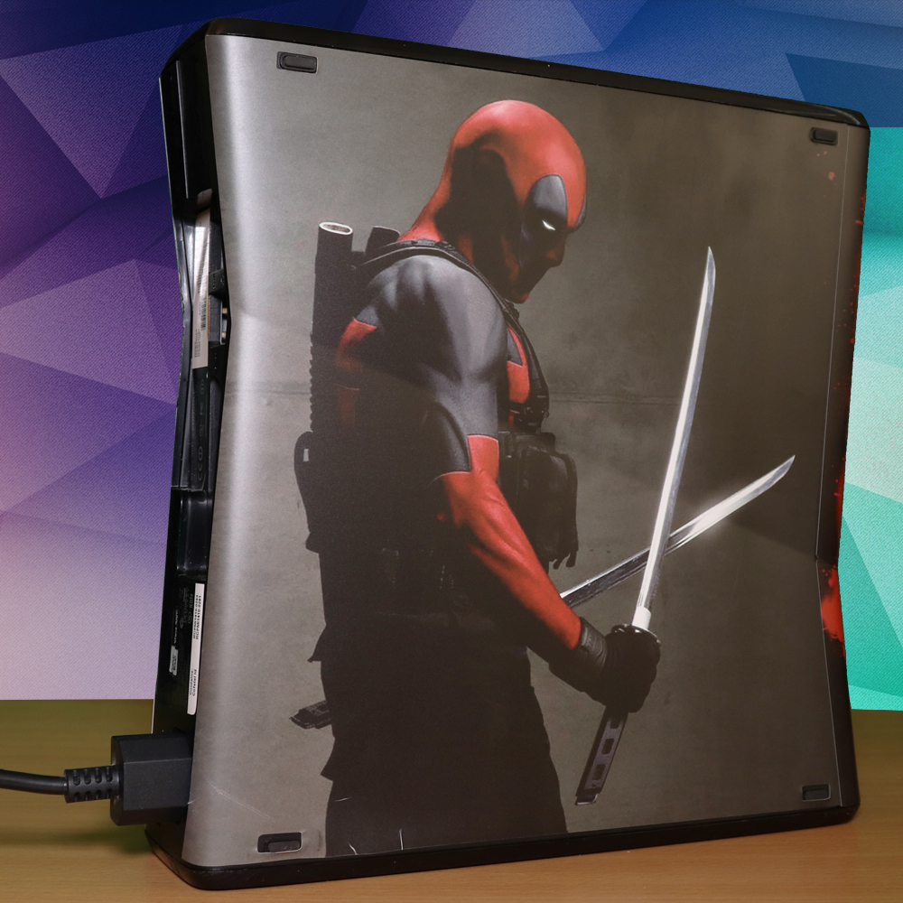 Modded Xbox 360 Slim RGH Deadpool Skin