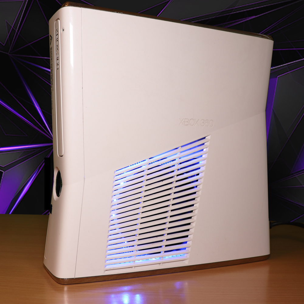 Roblox Builders Club Nasal Alanar Modded Xbox 360 Slim Rgh Pure White With Multi Coloured Led S Limited Edition L321 Mods